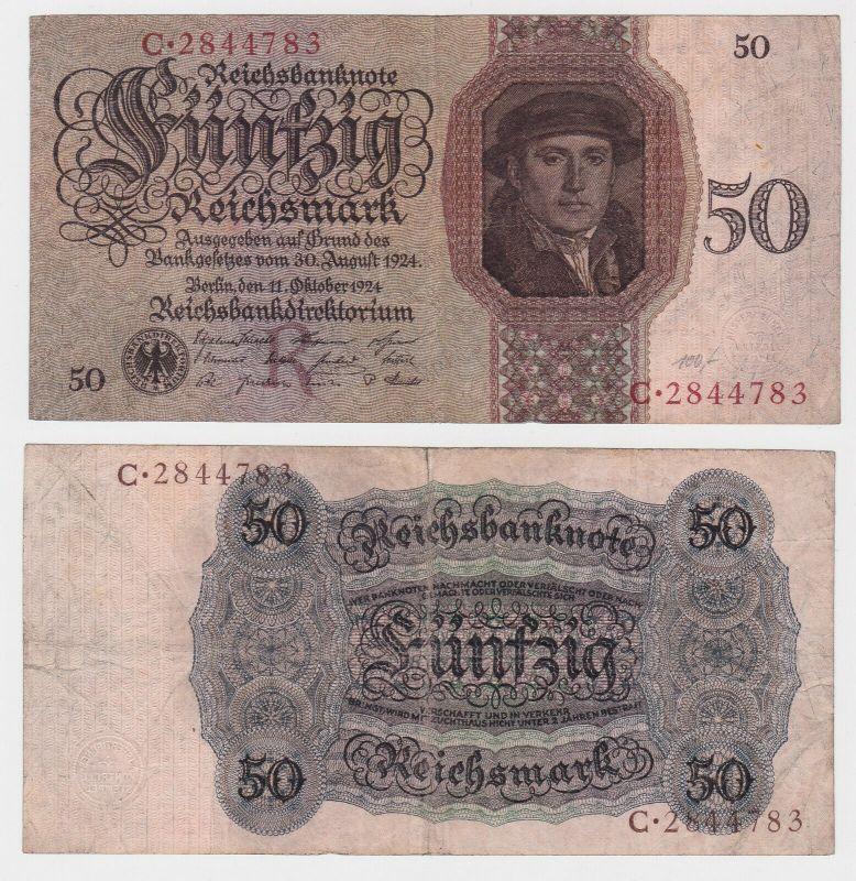 50 Reichsmark Banknote Deutsches Reich 11.10.1924 Rosenberg 170 a (130379)
