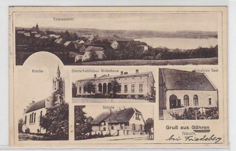 92301 Mehrbild Ak Gruß aus Göhren Neumark Schule, Kirche, Schalows Saal 1927