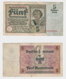 5 Rentenmark Banknote Weimarer Republik 2.1.1926 (130684)