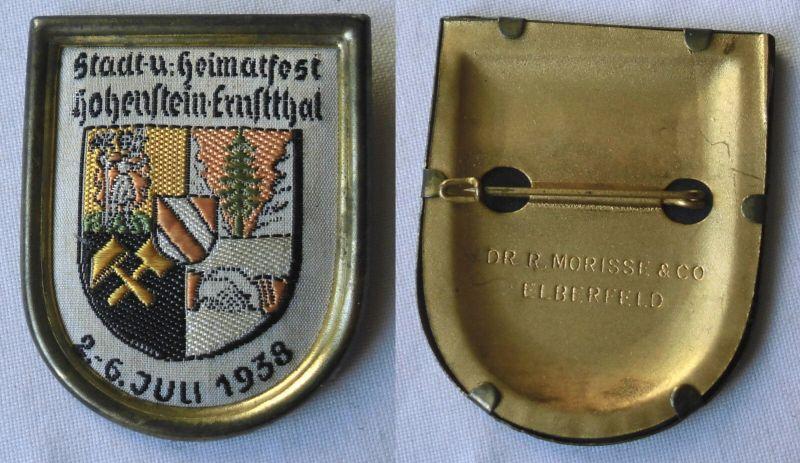 Seltenes Abzeichen Stadt- & Heimatfest Hohenstein Ernstthal 1938 (103695)