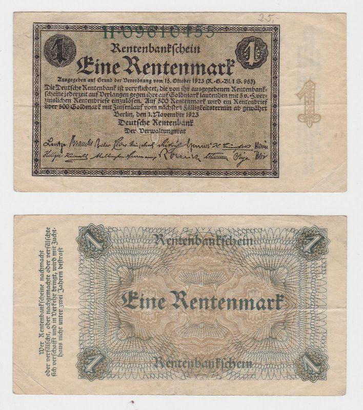1 Rentenmark Banknote Weimarer Republik 1.November 1923 (130101)