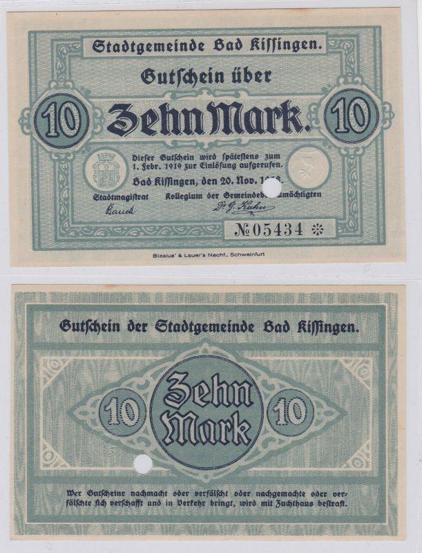 5 Mark Banknote Notgeld Stadtgemeinde Bad Kissingen 20.11.1918 (126536)