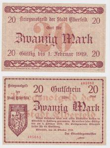 20 Mark Banknote Notgeld Stadt Elberfeld 25.10.1918 (130103)