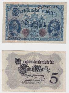5 Mark Darlehenskassenschein Deutsches Reich 5.8.1914 Ro.48 b (130935)