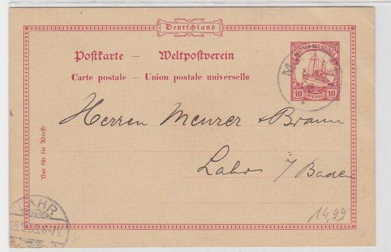 69099 Ganzsachen AK Deutsch-Neu-Guinea Matupi 1903
