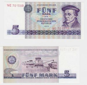 Banknote 5 Mark DDR 1975 kassenfrisch UNC (130660)