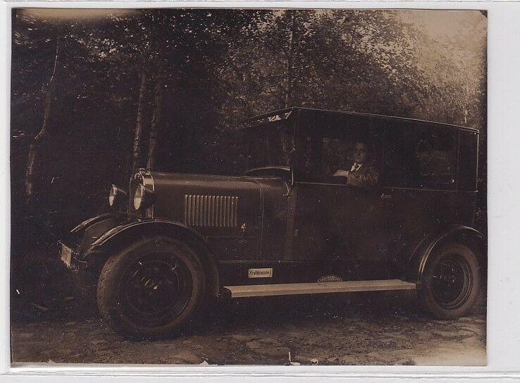 89352 Foto Ford Model A Oldtimer in Geithainer Innenstadt um 1930