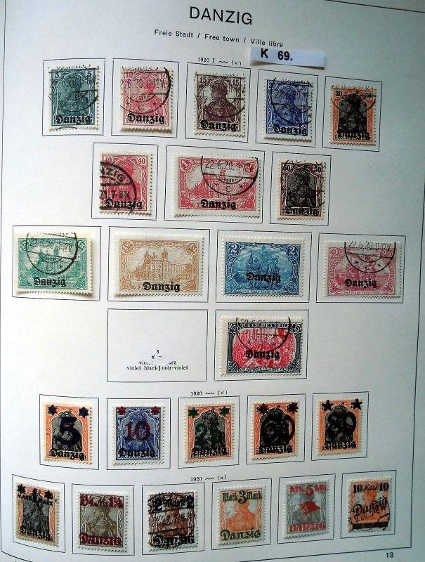Schöne hochwertige Briefmarkensammlung Danzig 1920 bis 1939