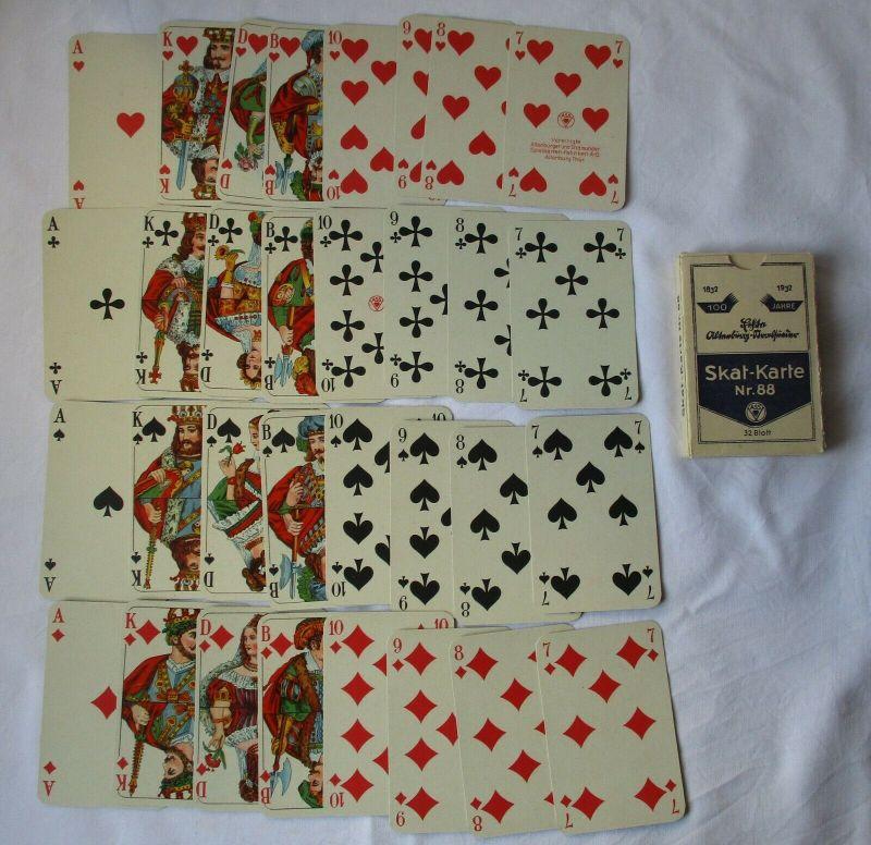 Altenburger & Stralsunder Spielkarten Fabriken Nr. 88 Skat-Karte 1932 (124482)