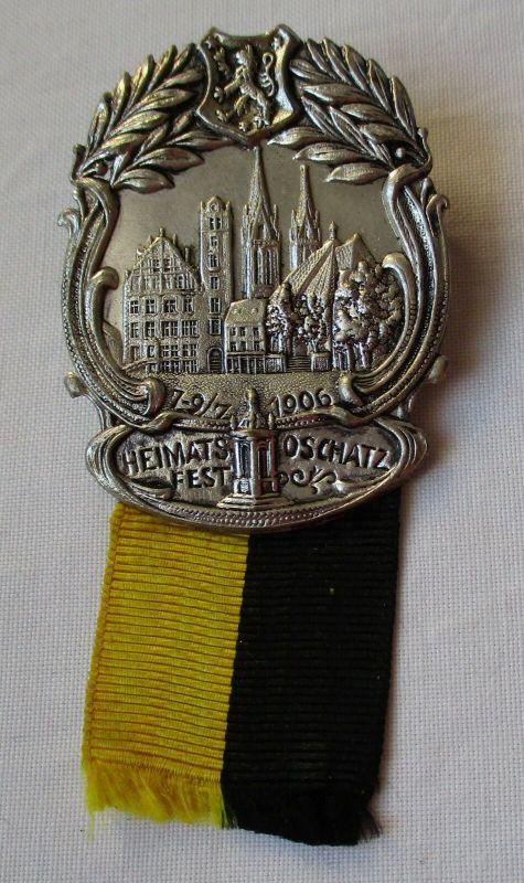 Seltenes Abzeichen Heimatsfest Oschatz 7.-9. Juli 1906 (118068)