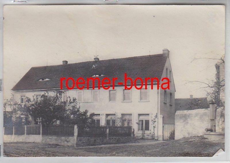 76932 Original Foto Merkwitz Schule um 1930