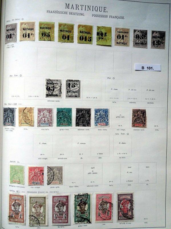 Schöne hochwertige Briefmarkensammlung Martinique Französische Besitzung ab 1886