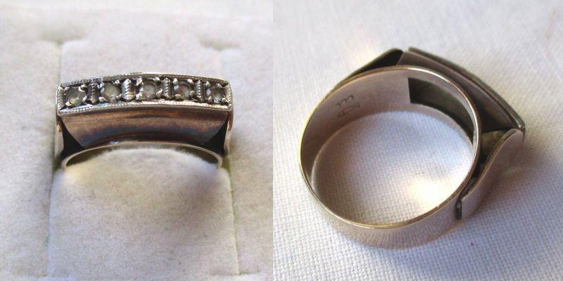 Wunderschöner 333er Gold Ring mit 5 kleinen Steinen (118581)