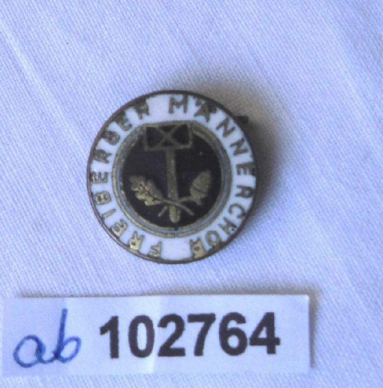 Emailliertes Abzeichen Freiberger Männerchor Handwerkssymbole (102764)