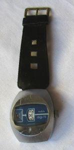 Ruhla Digi 73 Scheibenuhr DDR Rarität Herrenuhr, Sammleruhr Vintage (115454)