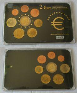 Luxemburg KMS Gedenkmünzensatz 1 Cent bis 1 Euro + 2 Euro Gedenkmünze (132398)