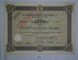 5000 Mark Aktie Zuckerfabrik Froebeln AG März 1923 (129270)