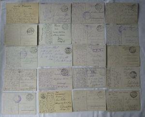 100 Ansichtskarten gelaufen als Feldpost im 1. Weltkrieg (125808)