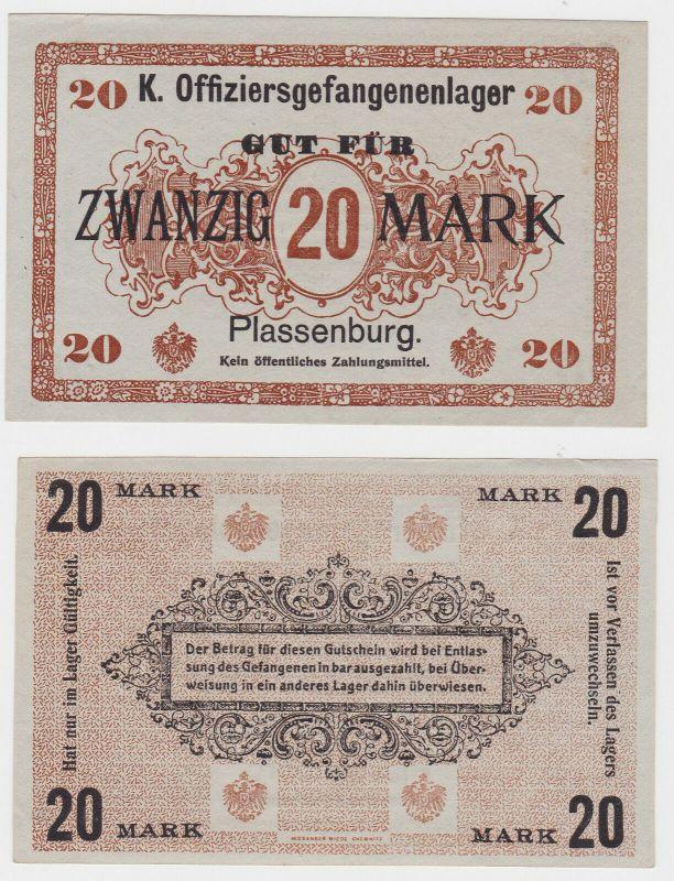 20 Mark Banknote Offiziersgefangenenlager Plassenburg 1.Weltkrieg (130397)