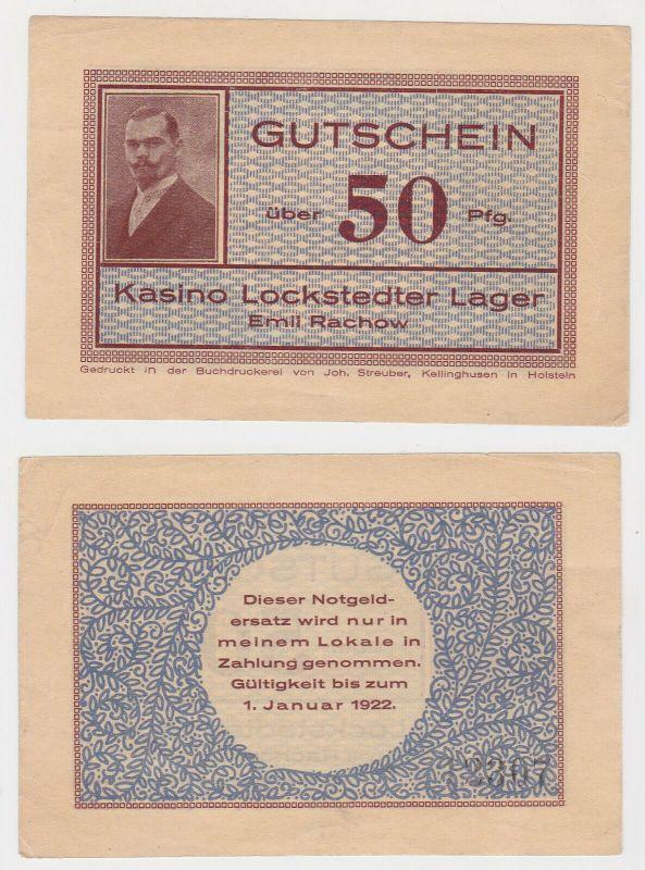50 Pfennig Banknote Kasino Lockstedter Lager Emil Rachow (130229)