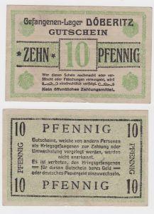 10 Pfennig Banknote Gefangenenlager Döberitz 1.Weltkrieg (130645)