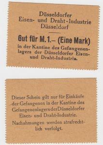 1 Mark Banknote Gefangenenlager Düsseldorfer Eisen & Draht Industrie (130252)