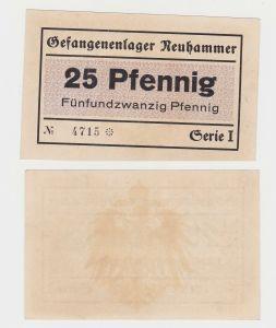 25 Pfennig Banknote Gefangenenlager Neuhammer ohne Datum (130252)