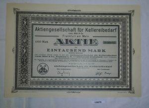 1000 Mark Aktie AG für Kellereibedarf Frankfurt am Main 15. Mai 1923 (129279)