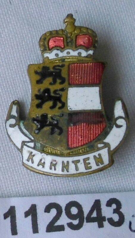 Emailliertes altes patriotisches Abzeichen Wappen mit Krone um 1920 (112943)