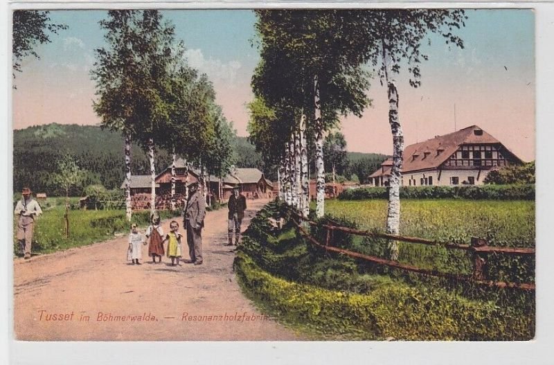 91916 AK Tusset im Böhmerwalde - Resonanzholzfabrik 1912