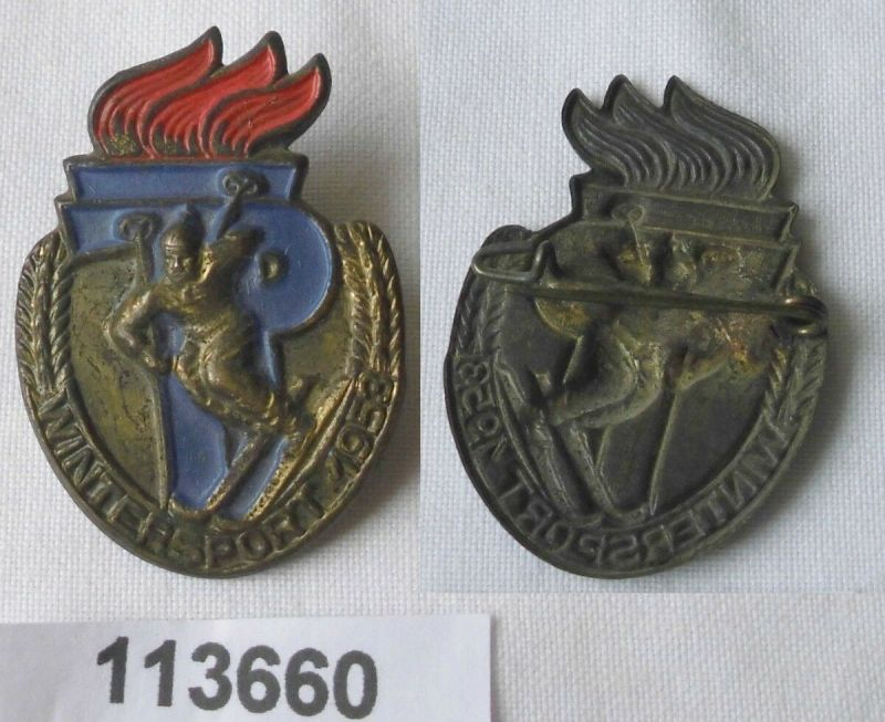 Seltenes DDR Pionier Wintersport Massenabzeichen 1953 (113660)