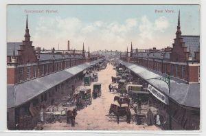 77350 AK New York - Gansevoort Market, Marktstraße mit zahlreichen Händlern
