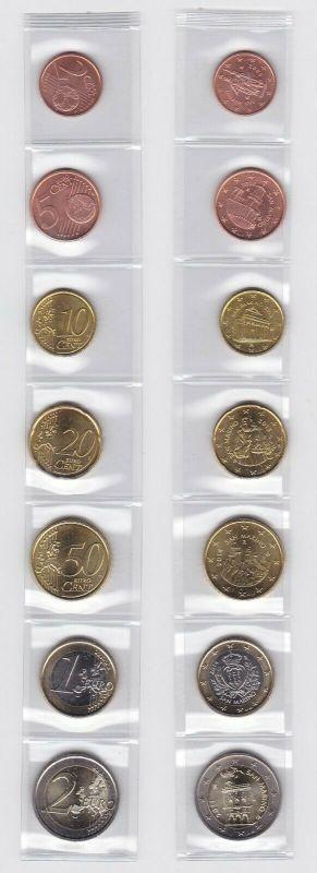 San Marino Euro Kursmünzensatz KMS lose - Stempelglanz (117764)