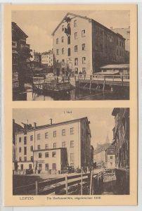 69004 Mehrbild Ak Leipzig die Barfussmühle abgebrochen 1898, um 1930