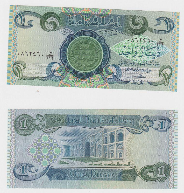 1 Dinar Banknote Iraq Irak Persien bankfrisch UNC (130234)