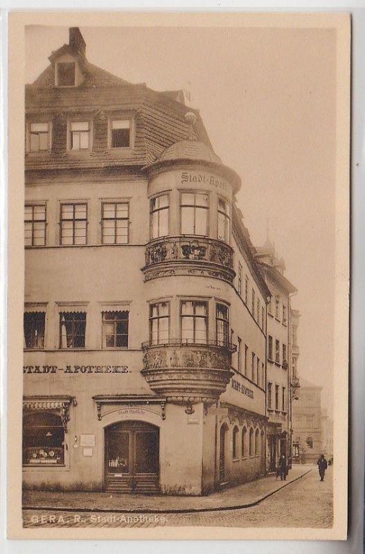 70824 Ak Gera Reuss Stadt Apotheke um 1940