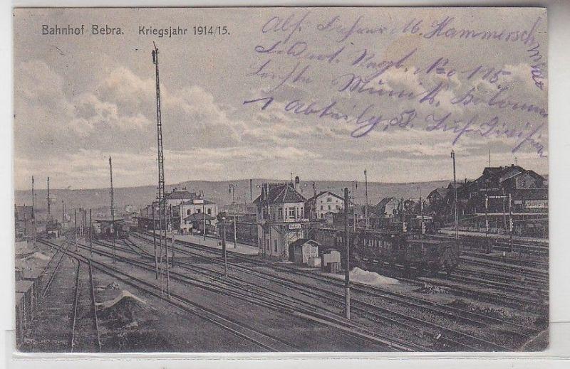 00821 Feldpost Ak Bahnhof Bebra Kriegsjahr 1914/15