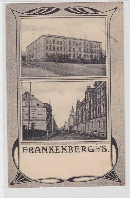 65183 AK Frankenberg in Sachsen - Straßenansicht 1915