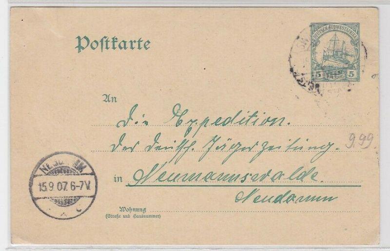74404 Ganzsachen AK Deutsch-Südwestafrika 5 Pfennig 1907