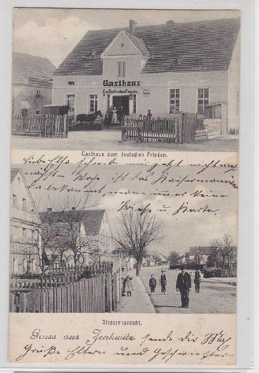 70684 Mehrbild Ak Gruß aus Jenkwitz Gasthof zum deutschen Frieden 1906