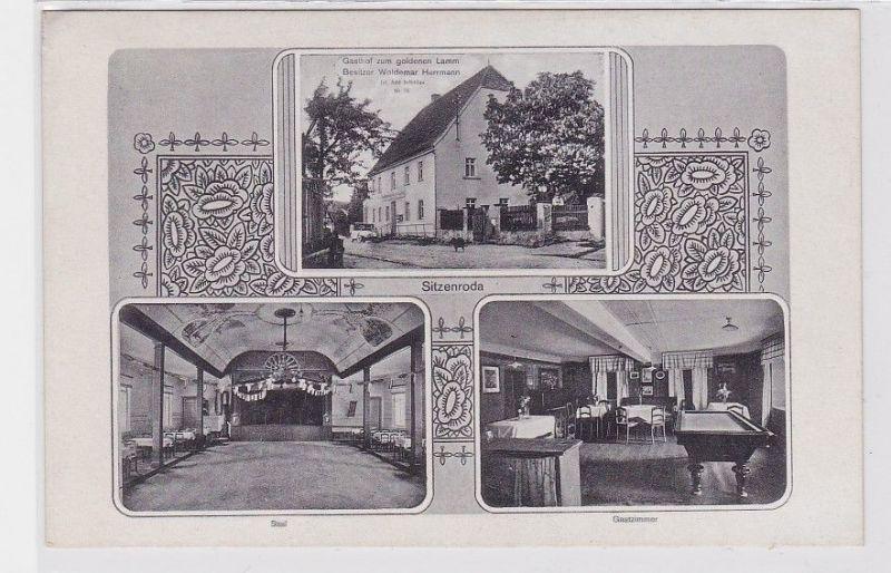 88149 Mehrbild Ak Gruß aus Sitzenroda Gasthof zum goldenen Lamm um 1940