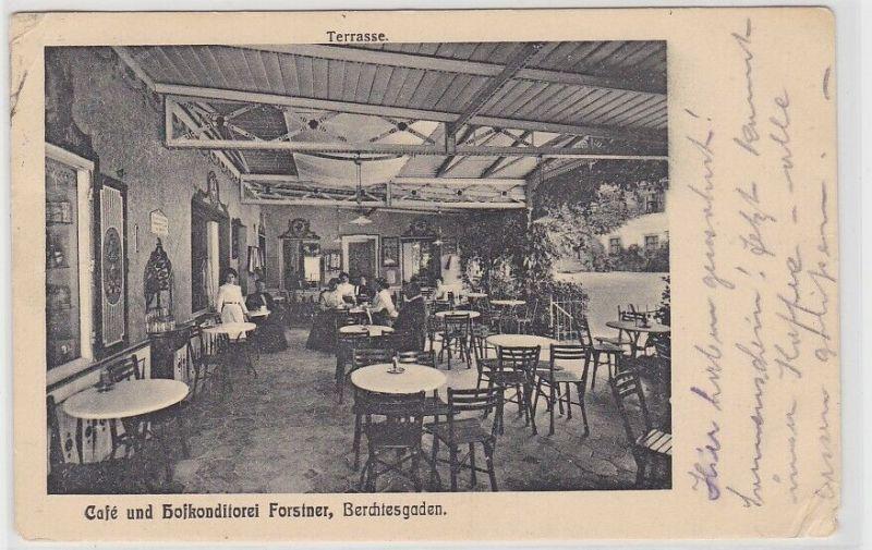 90500 AK Berchtesgaden - Café und Hofkonditorei Forstner, Terrasse 1927