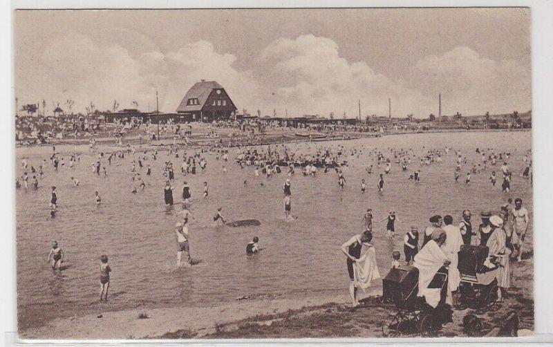 89300 AK Volksbad Olbersdorf - Badeanstalt mit zahlreichen Badegästen 1926