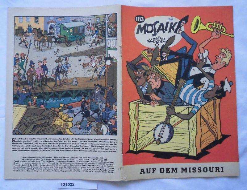 Seltenes Mosaik Heft Hannes Hegen Digedags Nr.183 Schwarze Serie (121022)