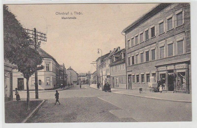 69750 Ak Ohrdruf in Thüringen Marktstrasse 1913