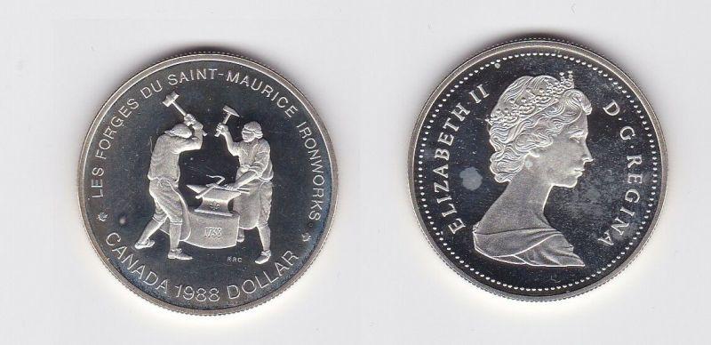1 Dollar Silber Münze Kanada 2 Schmiede in der Eisenhütte Saint Maurice (118367)