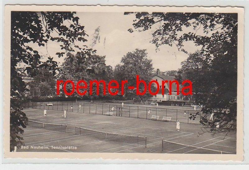 74148 Foto Ak Bad Nauheim Tennisplätze 1942