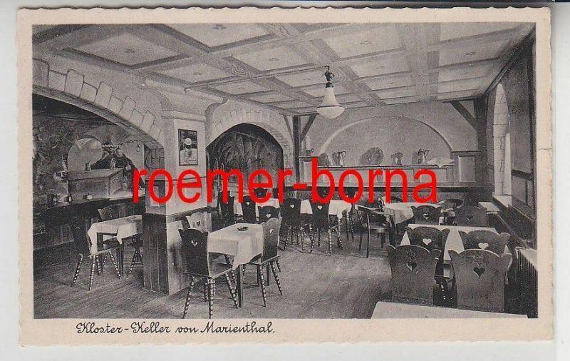 65413 Ak Marienthal Kloster-Keller Gaststätte um 1940