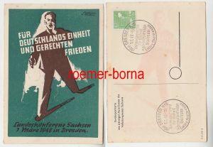 72880 Künstler Ak Für Deutschlands Einheit und gerechten Frieden Dresden 1948