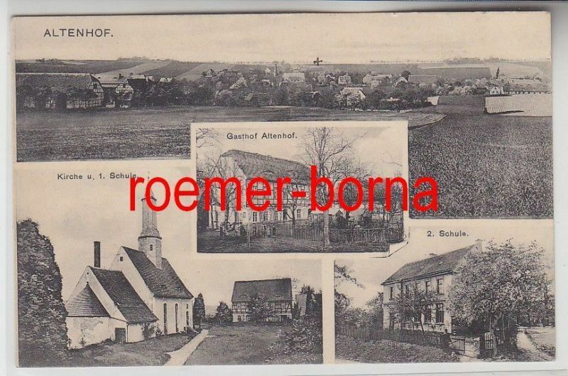 77398 Mehrbild Ak Altenhof bei Leisnig Gasthof usw. 1917